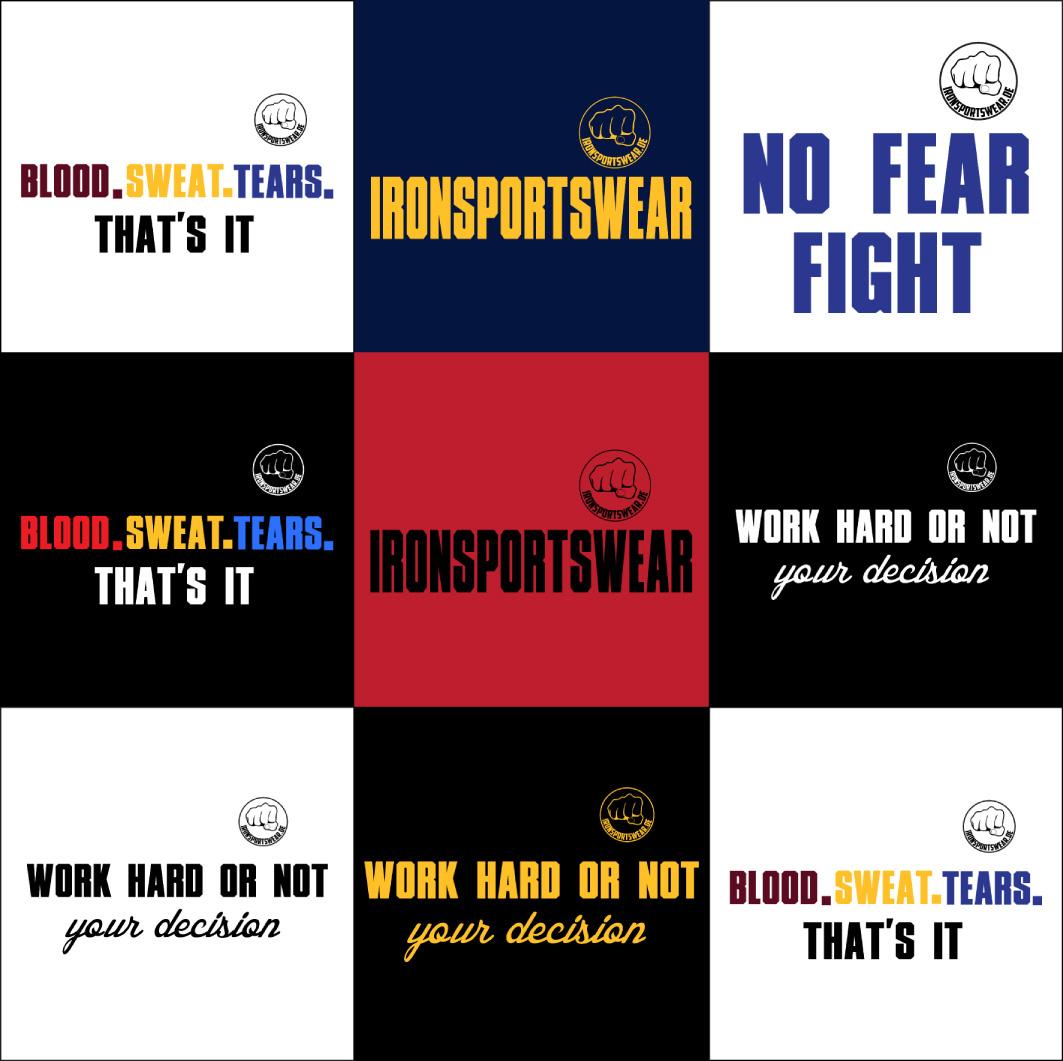 Ironsportswear alle Motive